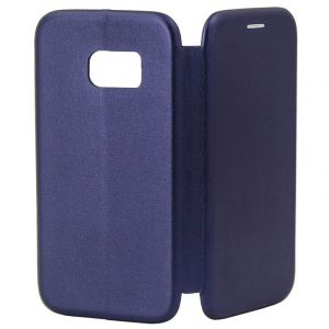 Husa Senno Tip Flip Leather Cover, Samsung S7-Dark Blue