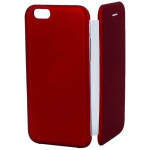 Husa Senno Tip Flip Rubber Cover, Apple iPhone 6/6S-Red