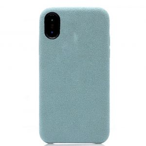 Husa Senno Tailor Alcantara, Apple iPhone XS Max-Dust Blue