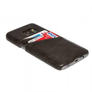 Husa Senno Tailor Leather Wallet, Samsung S7 Edge-Black