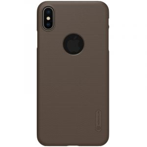 Husa Nillkin Super Frosted Shield, Apple iPhone XS Max-Brown