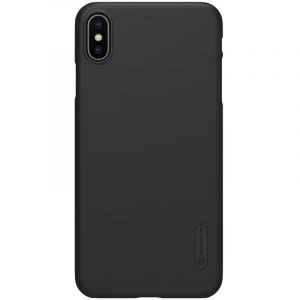 Husa Nillkin Super Frosted Shield, Apple iPhone XS Max, Cover Logo-Black