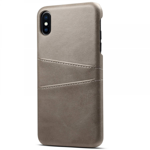 Husa Senno Tailor Leather Wallet, Apple iPhone XS Max-Grey