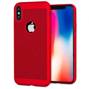 Husa Senno Rock Slim Air Plastic, Apple iPhone XS Max-Red