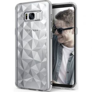Husa Senno Pure Flex Slim Diamond TPU, Samsung S8 Plus-Transparent Grey