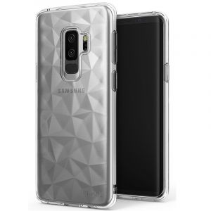 Husa Senno Pure Flex Slim Diamond TPU, Samsung S9 Plus-Transparent Grey