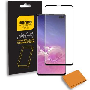 Folie protectie Senno Top Full Glue Edge, Samsung S10-Black