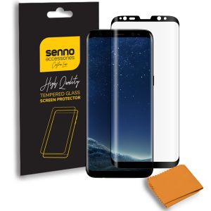 Folie protectie Senno Top Full Glue Edge, Samsung S8 Plus-Black