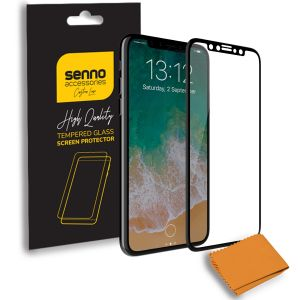 Folie protectie Senno Top Full Glue, Apple iPhone X/XS-Black