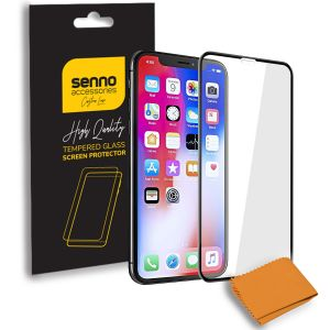 Folie protectie Senno Top Full Glue, Apple iPhone XS Max-Black
