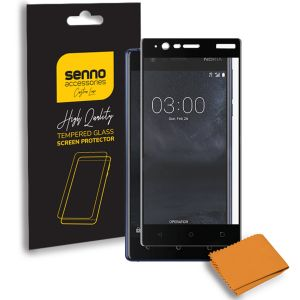 Folie protectie Senno Top Full Glue, Nokia 3-Black