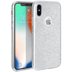 Husa Senno Magic Glitter, Apple iPhone X/XS-Silver