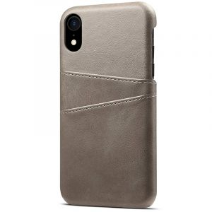 Husa Senno Tailor Leather Wallet, Apple iPhone XR-Grey